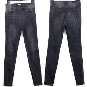 BDG High Rise Twig Skinny Jeans Black Grey Zip 29